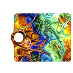 Abstract Fractal Batik Art Green Blue Brown Kindle Fire HDX 8.9  Flip 360 Case Front