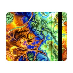 Abstract Fractal Batik Art Green Blue Brown Samsung Galaxy Tab Pro 8 4  Flip Case