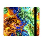 Abstract Fractal Batik Art Green Blue Brown Samsung Galaxy Tab Pro 8.4  Flip Case Front