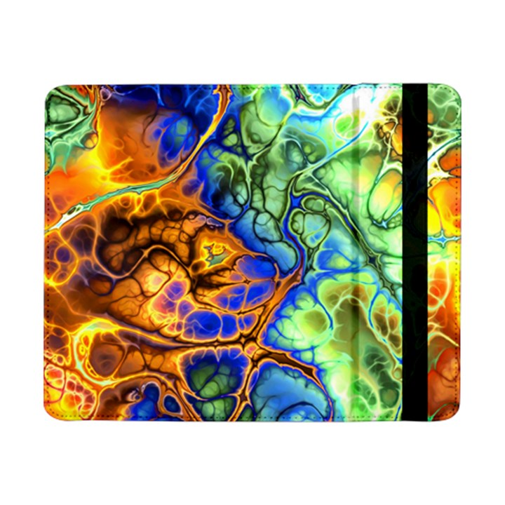 Abstract Fractal Batik Art Green Blue Brown Samsung Galaxy Tab Pro 8.4  Flip Case