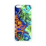 Abstract Fractal Batik Art Green Blue Brown Apple Seamless iPhone 6/6S Case (Transparent) Front
