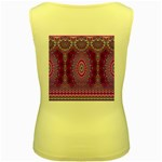 India Ornaments Mandala Pillar Blue Violet Women s Yellow Tank Top Back