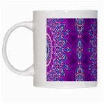 India Ornaments Mandala Pillar Blue Violet White Mugs Left