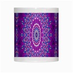 India Ornaments Mandala Pillar Blue Violet White Mugs Center