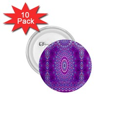 India Ornaments Mandala Pillar Blue Violet 1.75  Buttons (10 pack)