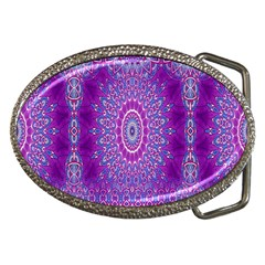 India Ornaments Mandala Pillar Blue Violet Belt Buckles