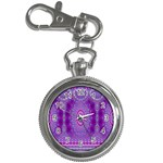 India Ornaments Mandala Pillar Blue Violet Key Chain Watches Front