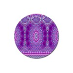 India Ornaments Mandala Pillar Blue Violet Magnet 3  (Round) Front