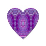 India Ornaments Mandala Pillar Blue Violet Heart Magnet Front