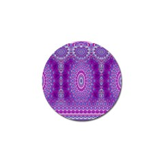 India Ornaments Mandala Pillar Blue Violet Golf Ball Marker