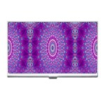 India Ornaments Mandala Pillar Blue Violet Business Card Holders Front