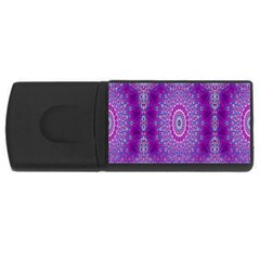 India Ornaments Mandala Pillar Blue Violet USB Flash Drive Rectangular (2 GB)