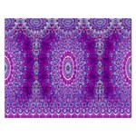 India Ornaments Mandala Pillar Blue Violet Rectangular Jigsaw Puzzl Front
