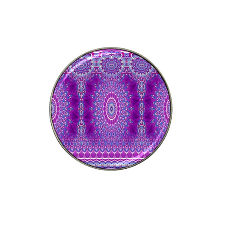 India Ornaments Mandala Pillar Blue Violet Hat Clip Ball Marker (4 pack)