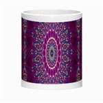 India Ornaments Mandala Pillar Blue Violet Night Luminous Mugs Center