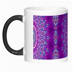 India Ornaments Mandala Pillar Blue Violet Morph Mugs Left