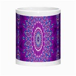 India Ornaments Mandala Pillar Blue Violet Morph Mugs Center