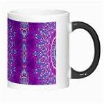 India Ornaments Mandala Pillar Blue Violet Morph Mugs Right