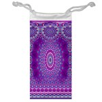 India Ornaments Mandala Pillar Blue Violet Jewelry Bags Front