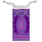 India Ornaments Mandala Pillar Blue Violet Jewelry Bags Back
