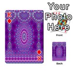 India Ornaments Mandala Pillar Blue Violet Playing Cards 54 Designs  Front - DiamondK