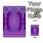 India Ornaments Mandala Pillar Blue Violet Playing Cards 54 Designs  Back