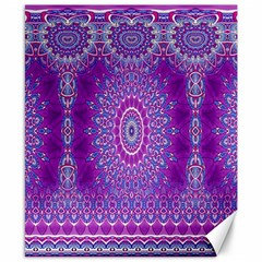India Ornaments Mandala Pillar Blue Violet Canvas 8  x 10
