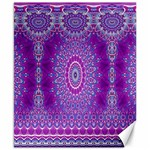 India Ornaments Mandala Pillar Blue Violet Canvas 8  x 10  10.02 x8 Canvas - 1