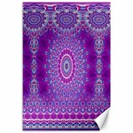 India Ornaments Mandala Pillar Blue Violet Canvas 12  x 18   18 x12 Canvas - 1