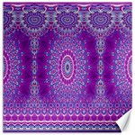 India Ornaments Mandala Pillar Blue Violet Canvas 16  x 16   16 x16 Canvas - 1