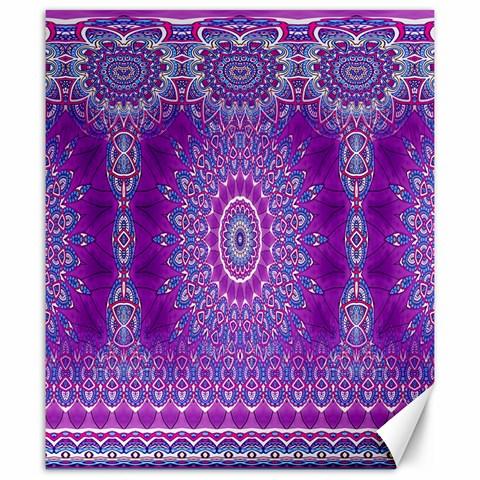 India Ornaments Mandala Pillar Blue Violet Canvas 20  x 24