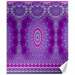 India Ornaments Mandala Pillar Blue Violet Canvas 20  x 24   24 x20 Canvas - 1