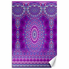 India Ornaments Mandala Pillar Blue Violet Canvas 20  x 30