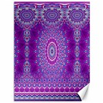 India Ornaments Mandala Pillar Blue Violet Canvas 36  x 48   48 x36 Canvas - 1