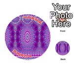 India Ornaments Mandala Pillar Blue Violet Playing Cards 54 (Round)  Front - Joker2