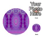 India Ornaments Mandala Pillar Blue Violet Playing Cards 54 (Round)  Back