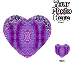 India Ornaments Mandala Pillar Blue Violet Playing Cards 54 (Heart)  Front - Joker1