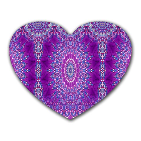 India Ornaments Mandala Pillar Blue Violet Heart Mousepads