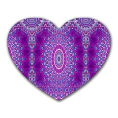 India Ornaments Mandala Pillar Blue Violet Heart Mousepads