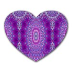 India Ornaments Mandala Pillar Blue Violet Heart Mousepads Front
