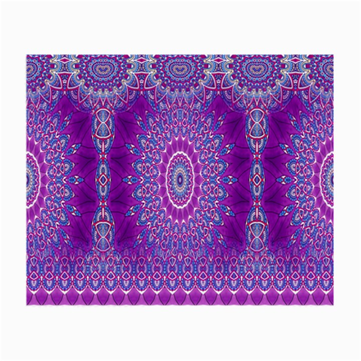 India Ornaments Mandala Pillar Blue Violet Small Glasses Cloth (2-Side)