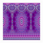 India Ornaments Mandala Pillar Blue Violet Medium Glasses Cloth Front