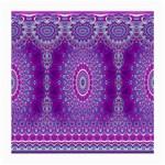 India Ornaments Mandala Pillar Blue Violet Medium Glasses Cloth (2-Side) Front
