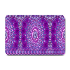 India Ornaments Mandala Pillar Blue Violet Small Doormat