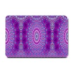 India Ornaments Mandala Pillar Blue Violet Small Doormat  24 x16 Door Mat - 1