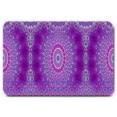 India Ornaments Mandala Pillar Blue Violet Large Doormat