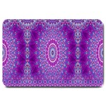 India Ornaments Mandala Pillar Blue Violet Large Doormat  30 x20 Door Mat - 1