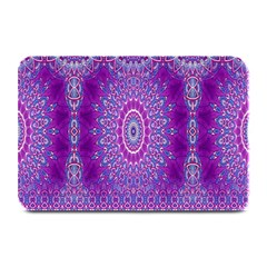 India Ornaments Mandala Pillar Blue Violet Plate Mats