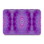 India Ornaments Mandala Pillar Blue Violet Plate Mats 18 x12 Plate Mat - 1