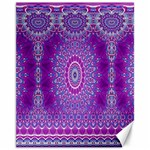 India Ornaments Mandala Pillar Blue Violet Canvas 11  x 14   14 x11 Canvas - 1
